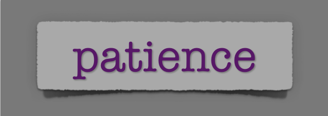 lenten journal: patience