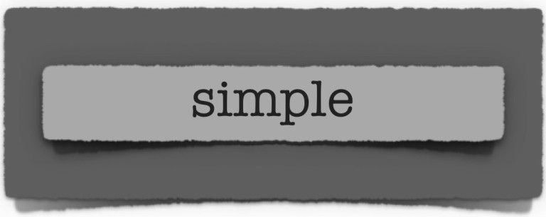 lenten journal: simple