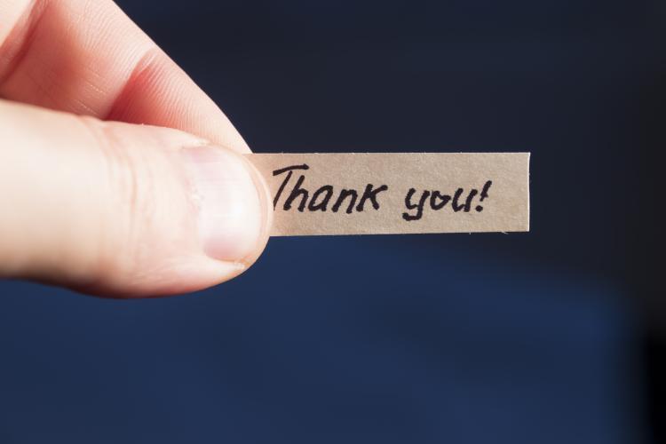 lenten journal: thank you