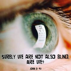 miracle monday: surely we are not blind . . .