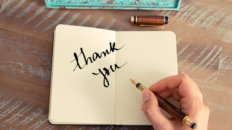 advent journal: thank you note