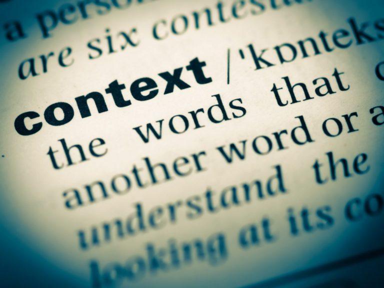 lenten journal: context